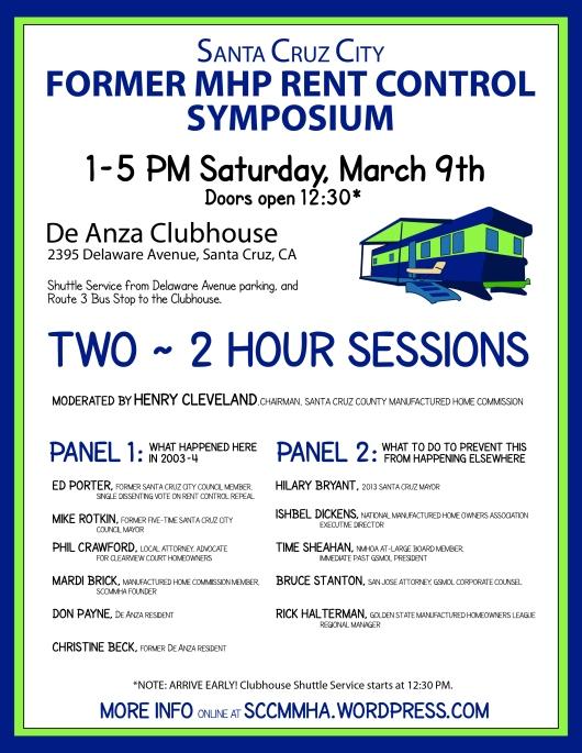 Rent Control Symposium Poster